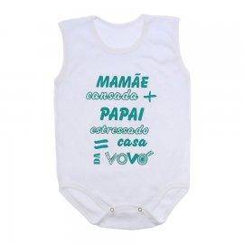 Imagem - Body de Bebê Regata  - 10169-body-regata-casa-vovo-verde