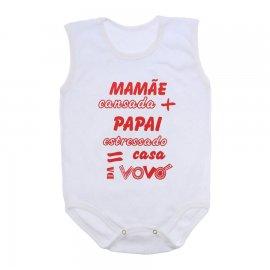 Imagem - Body de Bebê Regata  - 10169-body-regata-casa-vovo-vermelh