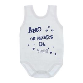 Imagem - Body de Bebê Regata com Frases - 10074-body-regata-abraços-da-vovó-a