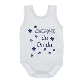 Imagem - Body de Bebê Regata com Frases - 10074-body-regata-ataque-dinda-azul