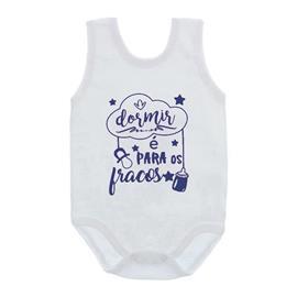 Imagem - Body de Bebê Regata com Frases - 10074-body-regata-dormir-e-para-fra