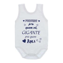 Imagem - Body de Bebê Regata com Frases - 10074-body-regata-gigante-quem-ama-
