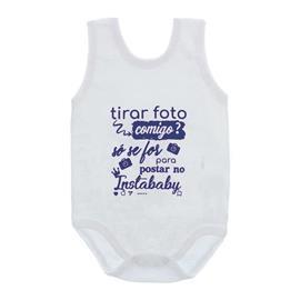 Imagem - Body de Bebê Regata com Frases - 10074-body-regata-instababy-azul