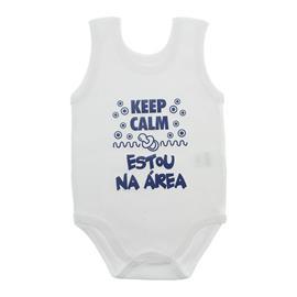 Imagem - Body de Bebê Regata com Frases - 10074-body-regata-keep-calm-azul