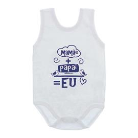 Imagem - Body de Bebê Regata com Frases - 10074-body-regata-mamae-papai-az