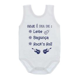 Imagem - Body de Bebê Regata com Frases - 10074-body-regata-rock-in-roll-azul