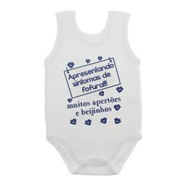 Imagem - Body de Bebê Regata com Frases - 10074-body-regata-fofurice-azul