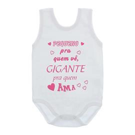 Imagem - Body de Bebê Regata Frases - 10074-body-regata-gigante-rosa