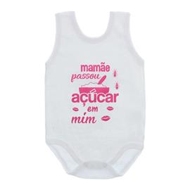 Imagem - Body de Bebê Regata Frases - 10074-body-regata-acucar-mim-rosa