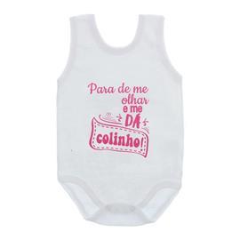Imagem - Body de Bebê Regata Frases - 10074-body-regata-me-da-colinho-ros
