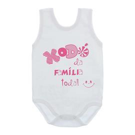 Imagem - Body de Bebê Regata Frases - 10074-body-regata-xodo-familia-rosa