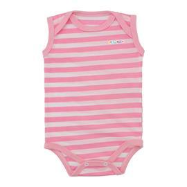 Imagem - Body de Bebê Regata Listrado Lapuko 9935 - 9935-body-regata-listrado-rosa