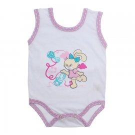 Imagem - Body de Bebê Regata Menina - 10187-body-regata-coelha-poa-lilas