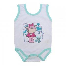 Imagem - Body de Bebê Regata Menina - 10187-body-regata-cow-verde