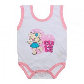 Imagem - Body de Bebê Regata Menina - 10187-body-regata-cute-rosa