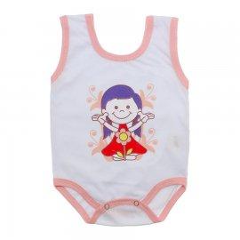 Imagem - Body de Bebê Regata Menina - 10187-body-regata-flor-salmao