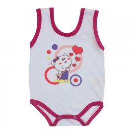 Imagem - Body de Bebê Regata Menina - 10187-body-regata-gata-rock-pink