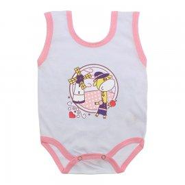 Imagem - Body de Bebê Regata Menina - 10187-body-regata-girafa-rosa
