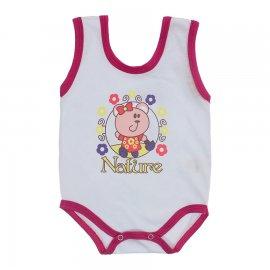 Imagem - Body de Bebê Regata Menina - 10187-body-regata-nature-pink