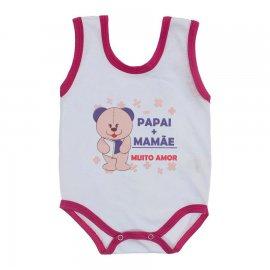 Imagem - Body de Bebê Regata Menina - 10187-body-regata-papai+mamae-pink