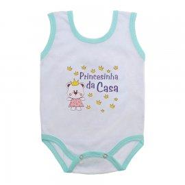 Imagem - Body de Bebê Regata Menina - 10187-body-regata-princesinha-casa-