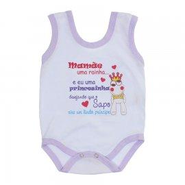 Imagem - Body de Bebê Regata Menina - 10187-body-regata-sapinho-lilas