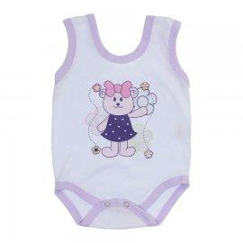 Imagem - Body de Bebê Regata Menina - body-de-bebe-regata-menina-ursa-laç