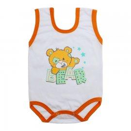 Imagem - Body de Bebê Regata Menino - 10186-body-regata-bear-laranja