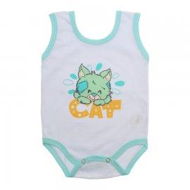 Imagem - Body de Bebê Regata Menino - 10186-body-regata-cat-verde
