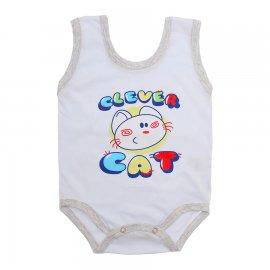 Imagem - Body de Bebê Regata Menino - 10186-body-regata-clever-cat-mescla