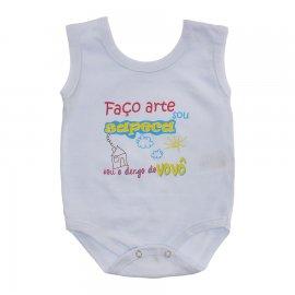 Imagem - Body de Bebê Regata Menino - 10186-body-regata-faço-arte-branco