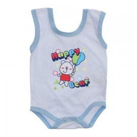 Imagem - Body de Bebê Regata Menino - 10186-body-regata-happy-bear-azul