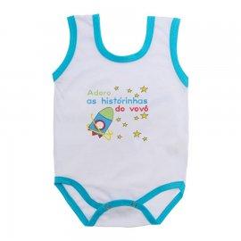 Imagem - Body de Bebê Regata Menino - 10186-body-regata-historias-vovo-az