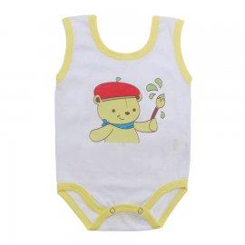 Imagem - Body de Bebê Regata Menino - 10186-body-regata-pintor-amarelo