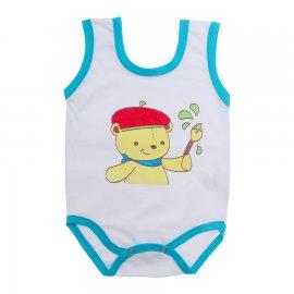 Imagem - Body de Bebê Regata Menino - 10186-body-regata-pintor-turquesa