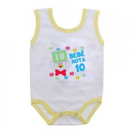 Imagem - Body de Bebê Regata Menino - 10186-body-regata-nota-10-amarelo