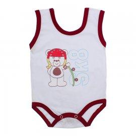 Imagem - Body de Bebê Regata Menino - 10186-body-regata-skate-vinho
