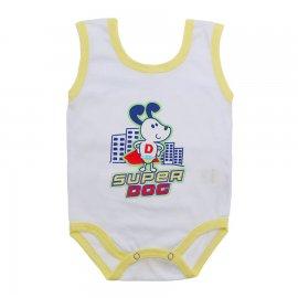 Imagem - Body de Bebê Regata Menino - 10186-body-regata-super-dog-amarelo