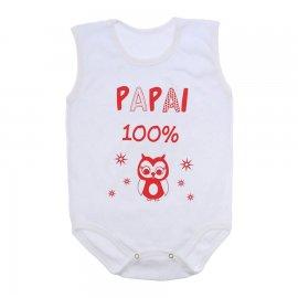 Imagem - Body de Bebê Regata  - 10169-body-regata-papai100vermelho