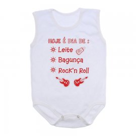 Imagem - Body de Bebê Regata  - 10169-body-regata-rock-roll-vermel