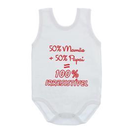 Imagem - Body de Bebê Regata Unissex com Frases - 10075-body-regata-100-irresistível