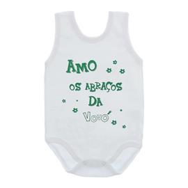 Imagem - Body de Bebê Regata Unissex com Frases - 10075-body-regata-abraços-vovo-verd