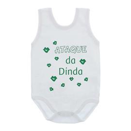 Imagem - Body de Bebê Regata Unissex com Frases - 10075-body-regata-ataque-dinda-verd