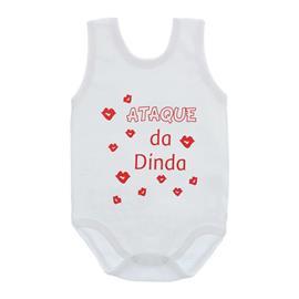 Imagem - Body de Bebê Regata Unissex com Frases - 10075-body-regata-ataque-dinda-verm