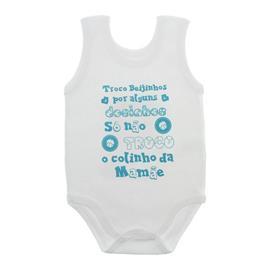 Imagem - Body de Bebê Regata Unissex com Frases - 10075-body-regata-colinho-verde