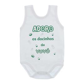Imagem - Body de Bebê Regata Unissex com Frases - 10075-body-regata-docinhos-vovó-ver