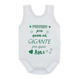 Imagem - Body de Bebê Regata Unissex com Frases - 10075-body-regata-gigante-pra-ama-v