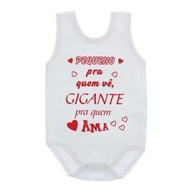 Imagem - Body de Bebê Regata Unissex com Frases - 10075-body-regata-gigante-pra-ama