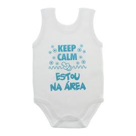 Imagem - Body de Bebê Regata Unissex com Frases - 10075-body-regata-keepcalm-verde