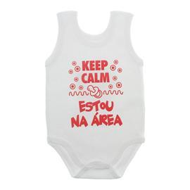 Imagem - Body de Bebê Regata Unissex com Frases - 10075-body-regata-keep-calm-vermelh